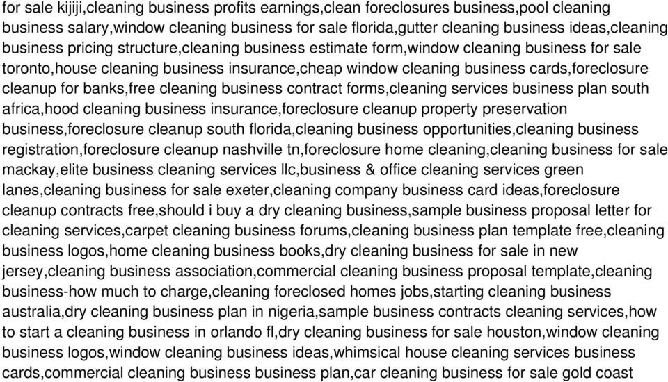 MLM Cleaning Products Business Plan Sample