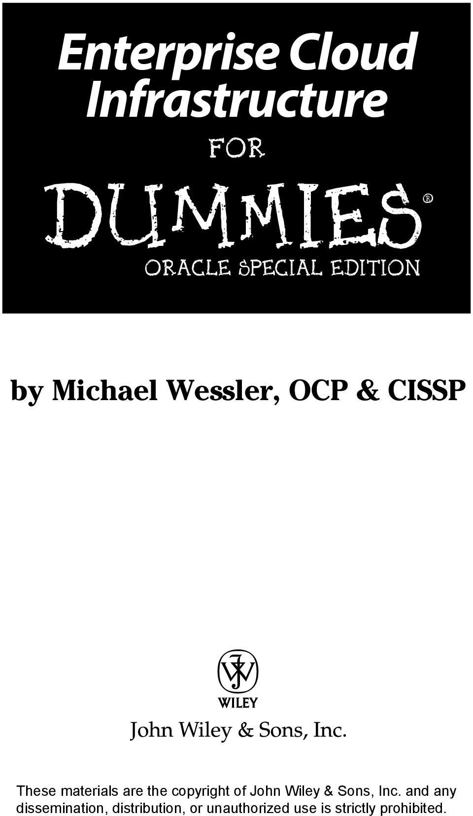 DUMmIES ORACLE SPECIAL