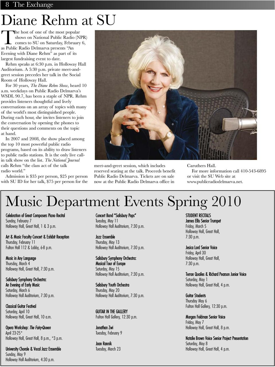 For 30 years, The Diane Rehm Show, heard 10 a.m. weekdays on Public Radio Delmarva s WSDL 90.7, has been a staple of NPR.