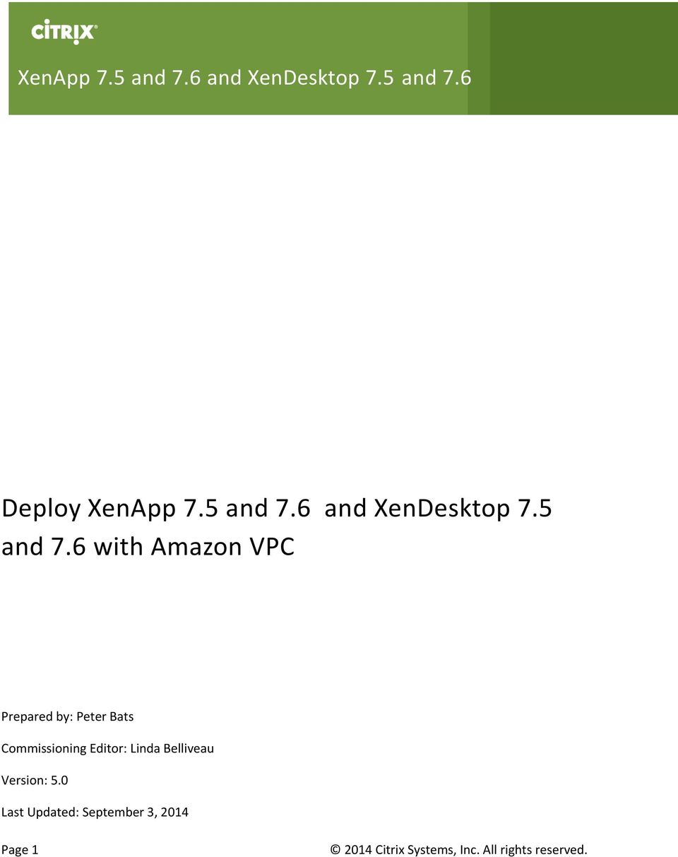 6 and XenDesktop 7.