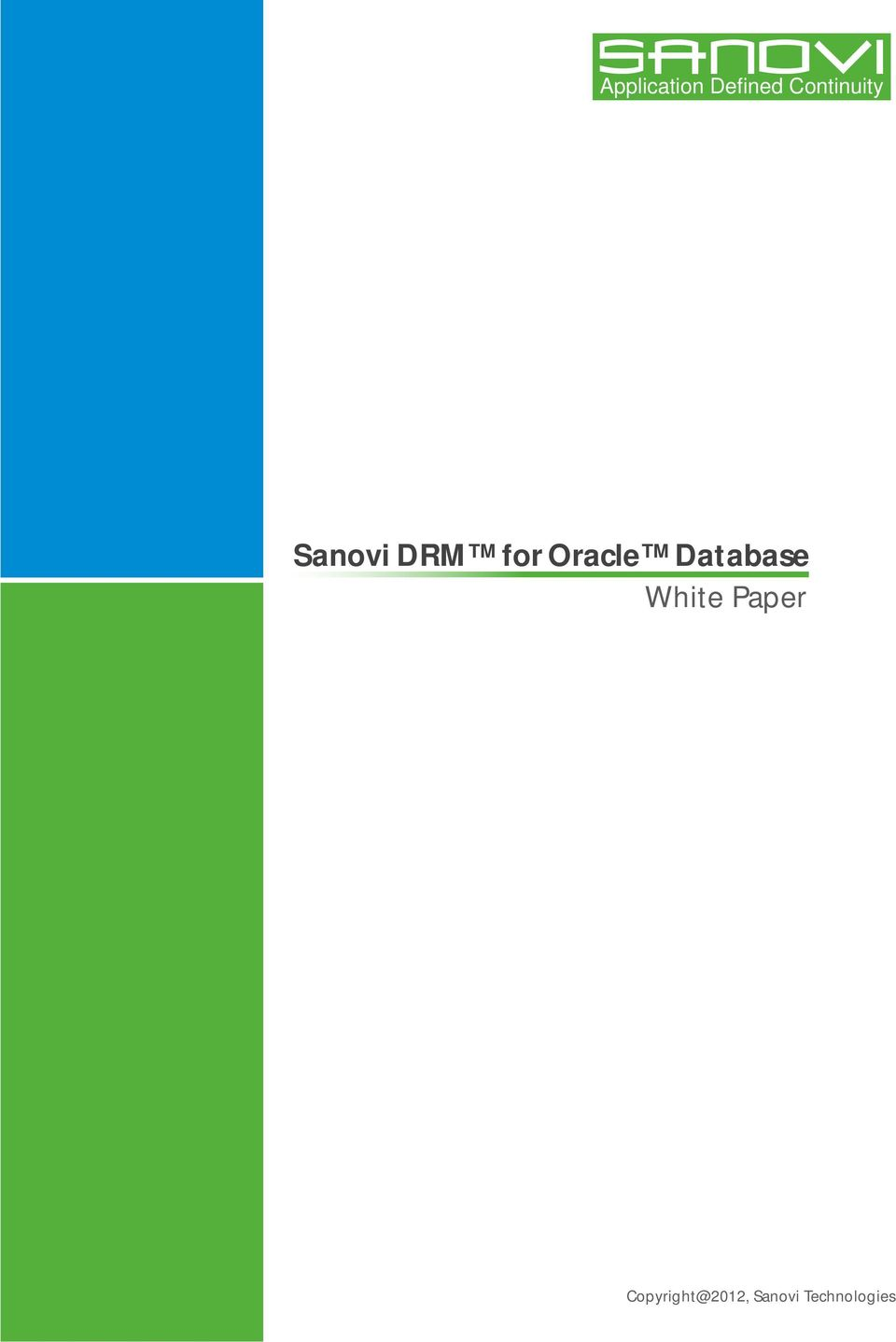 Oracle Database White Paper