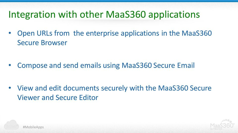 and send emails using MaaS360 Secure Email View and edit