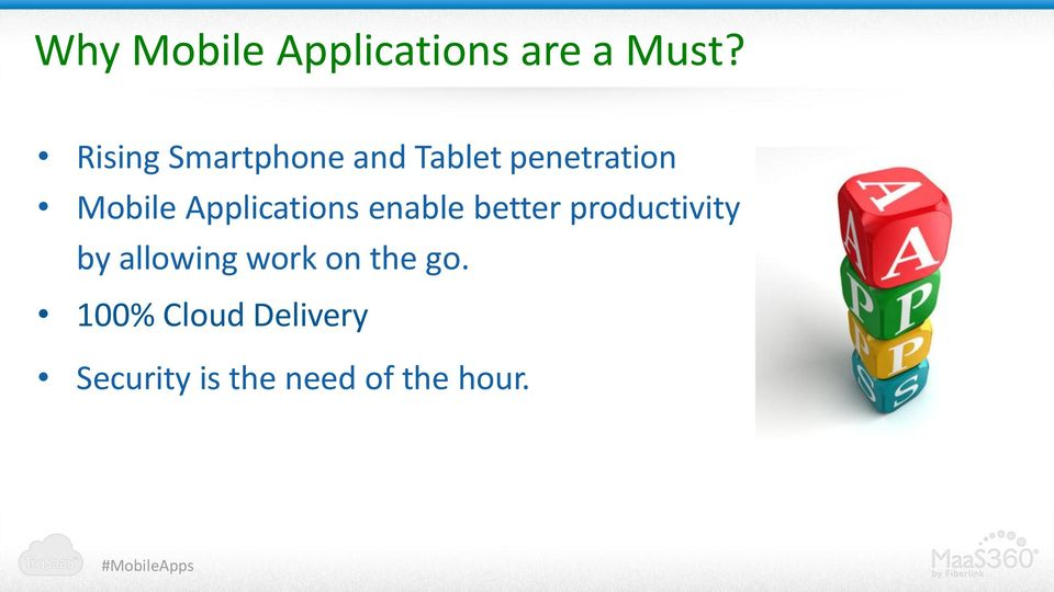 Applications enable better productivity by allowing