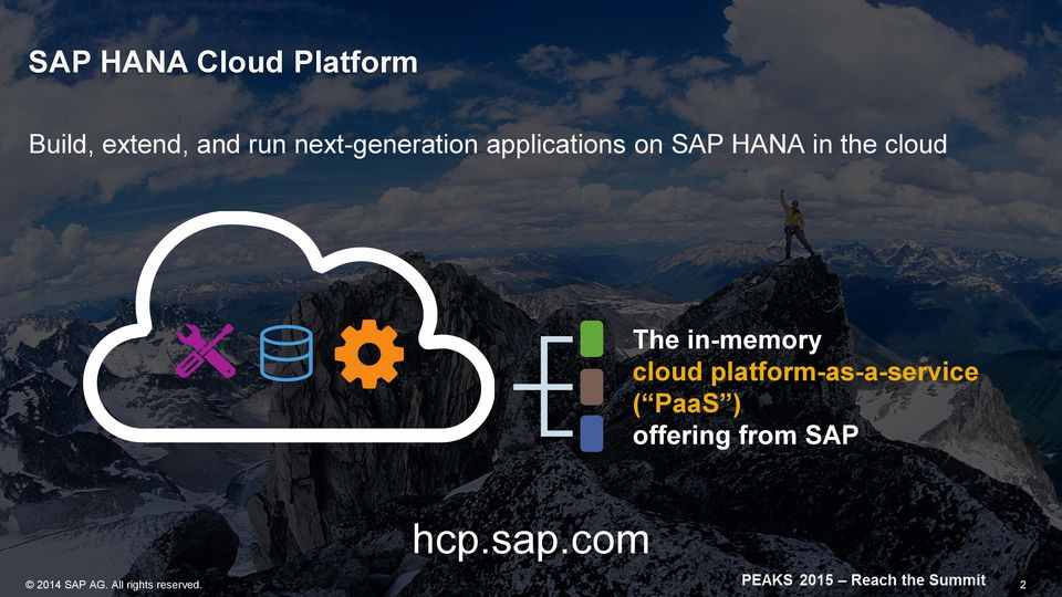 The in-memory cloud platform-as-a-service ( PaaS )