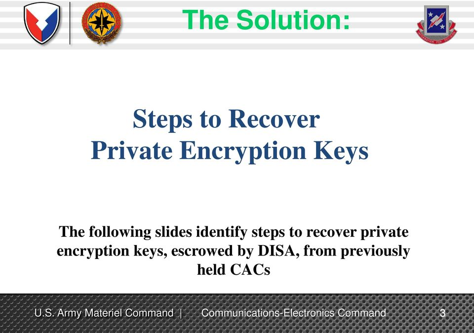 identify steps to recover private