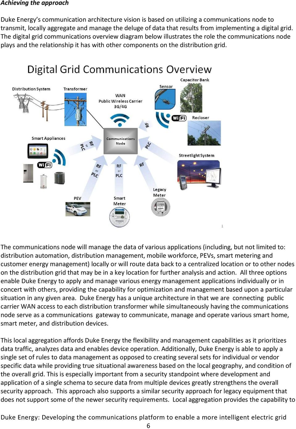 The digital grid communications overview diagram below illustrates the role the communications node plays and the relationship it has with other components on the distribution grid.
