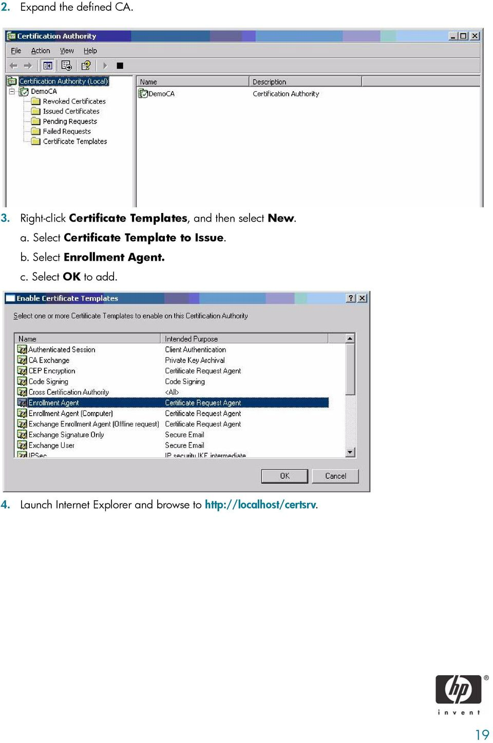 d then select New. a. Select Certificate Template to Issue. b.