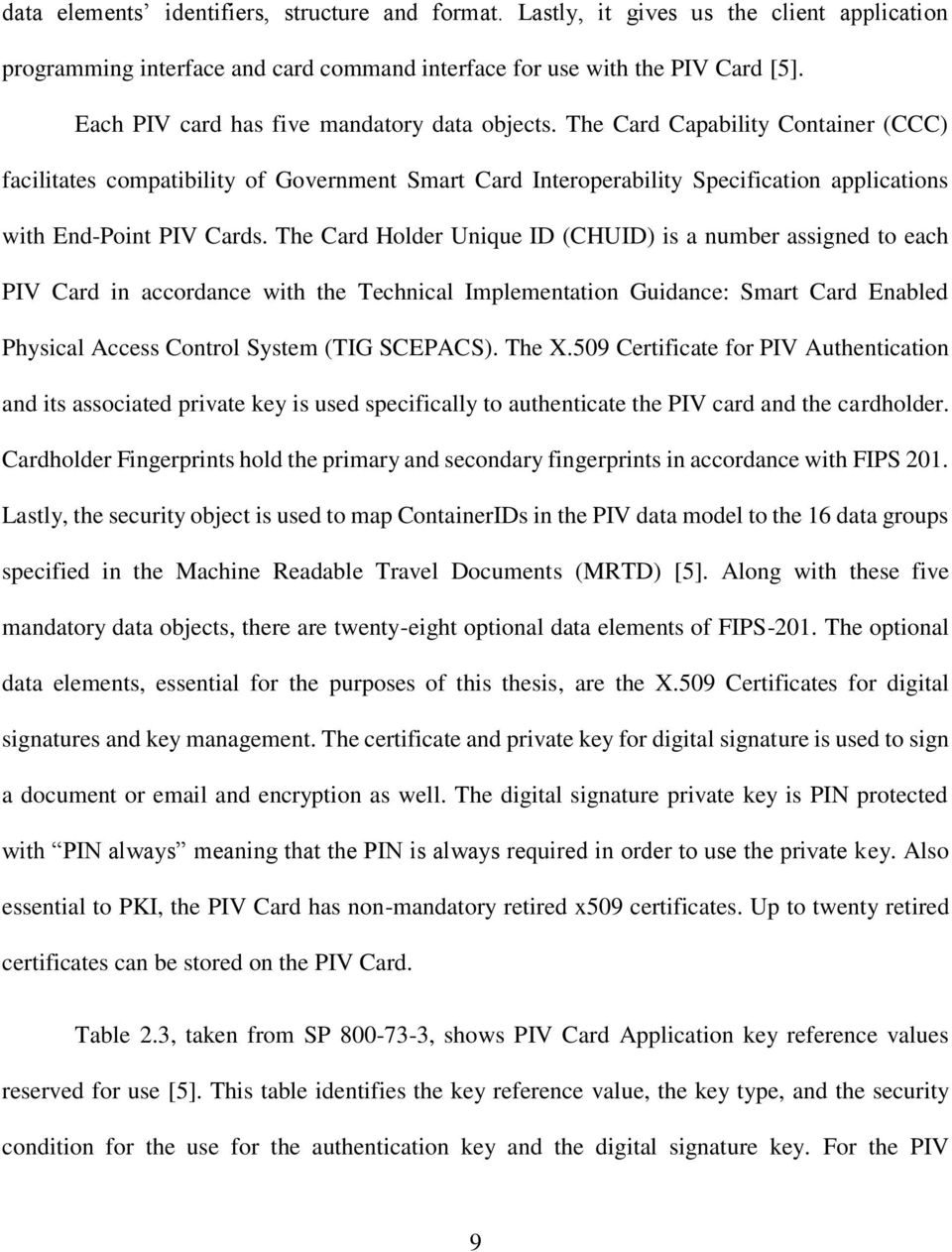 The Card Capability Container (CCC) facilitates compatibility of Government Smart Card Interoperability Specification applications with End-Point PIV Cards.