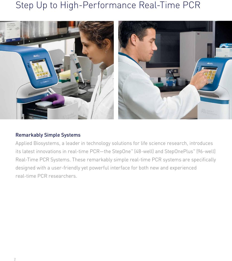 and StepOnePlus (96-well) Real-Time PCR Systems.