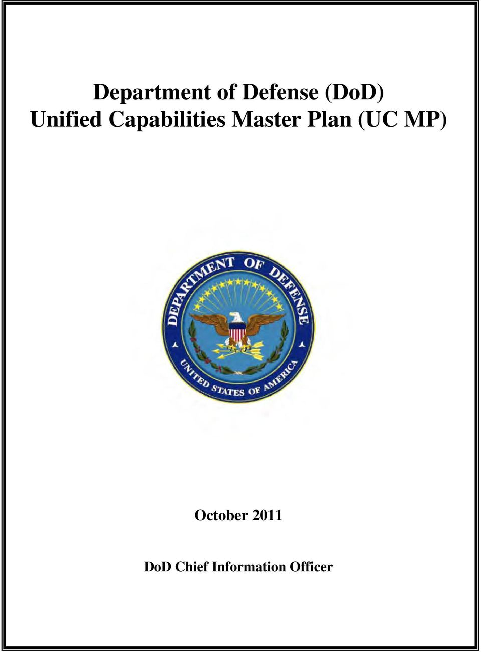 Plan (UC MP) October 2011