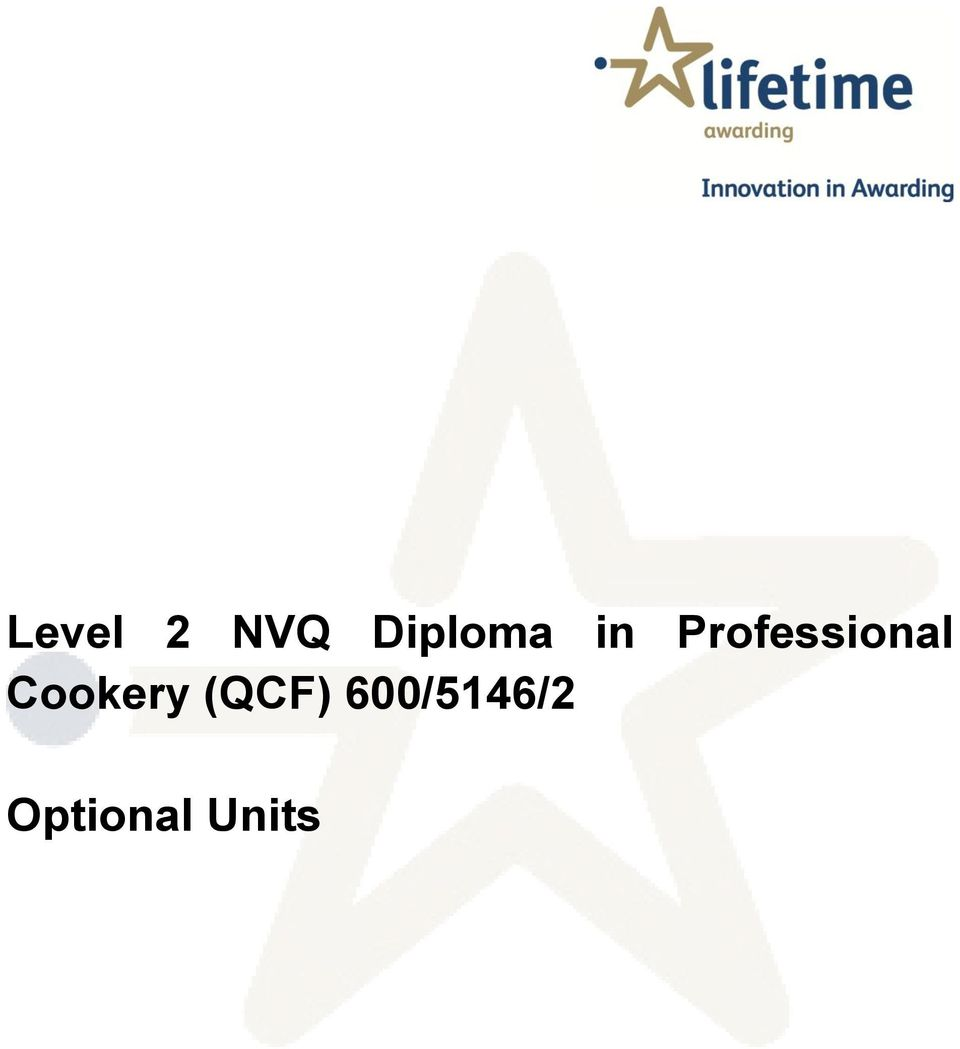 nvq level 2 professional cookery unit Learn advanced methods of food preparation and cooking the professional  cookery nvq diploma course consists of units, covering food safety, health.