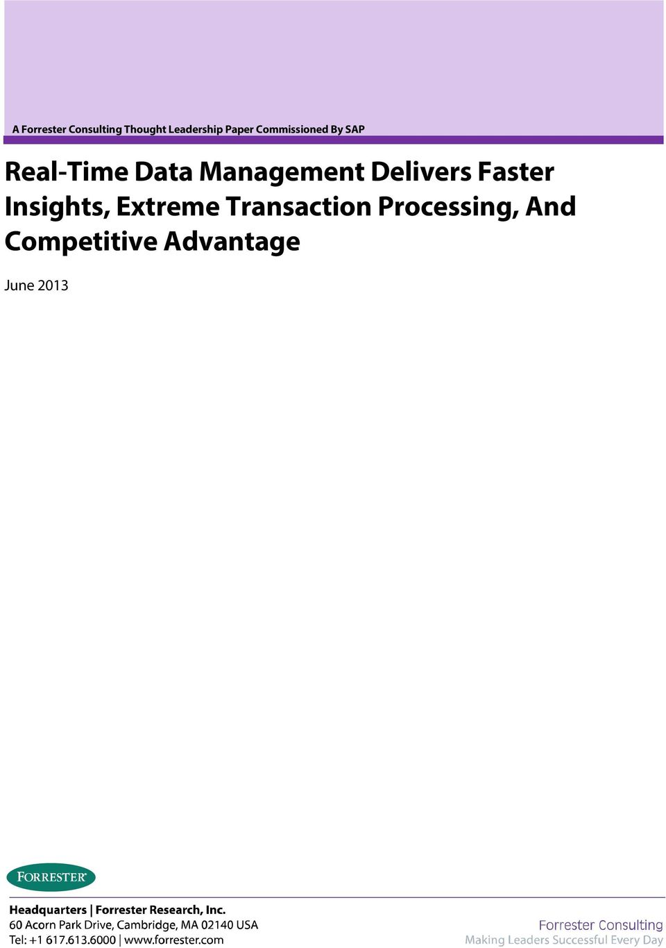 Management Delivers Faster Insights, Extreme