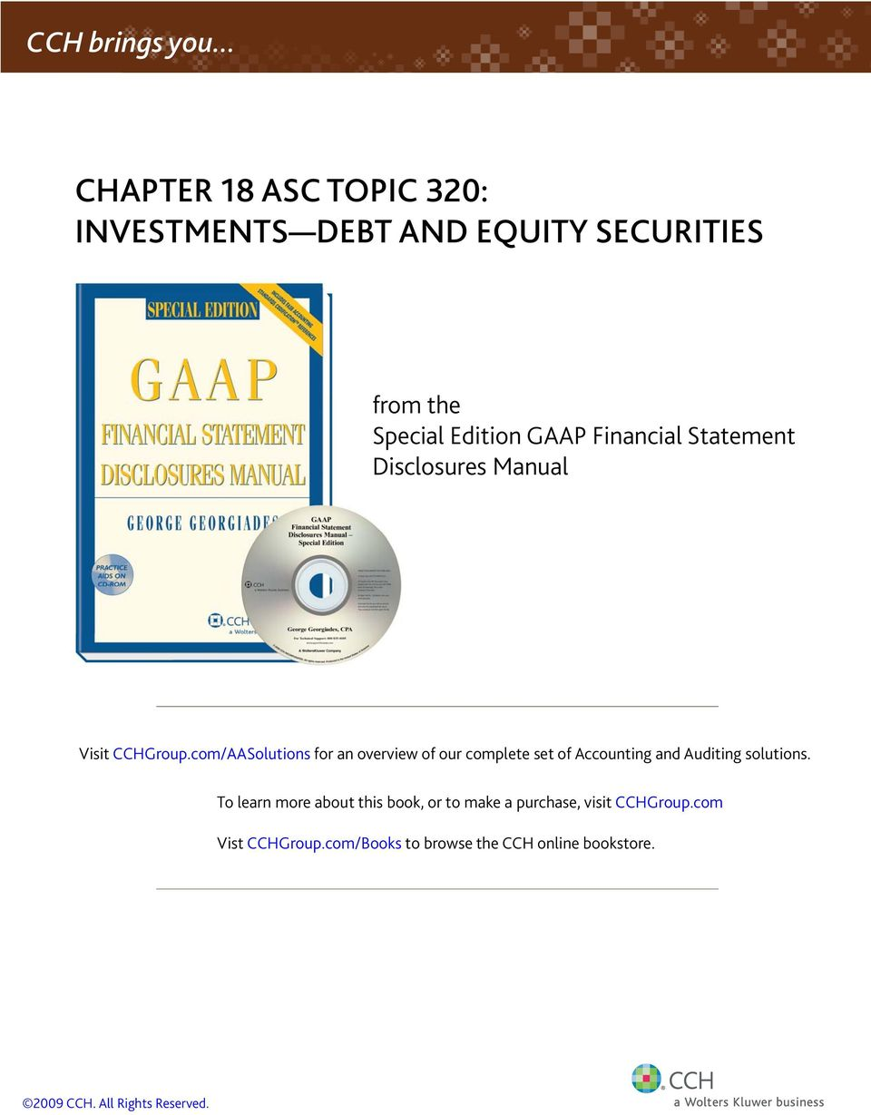 Financial Statement Disclosures Manual Visit CCHGroup.
