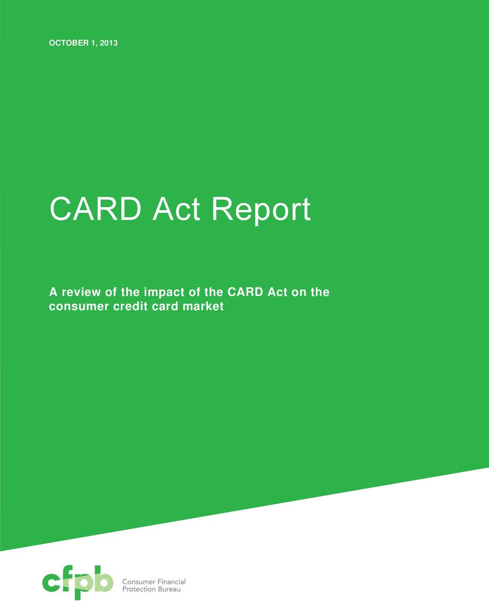 impact of the CARD Act on