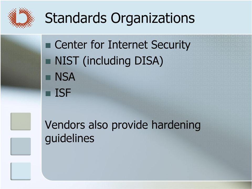 (including DISA) NSA ISF