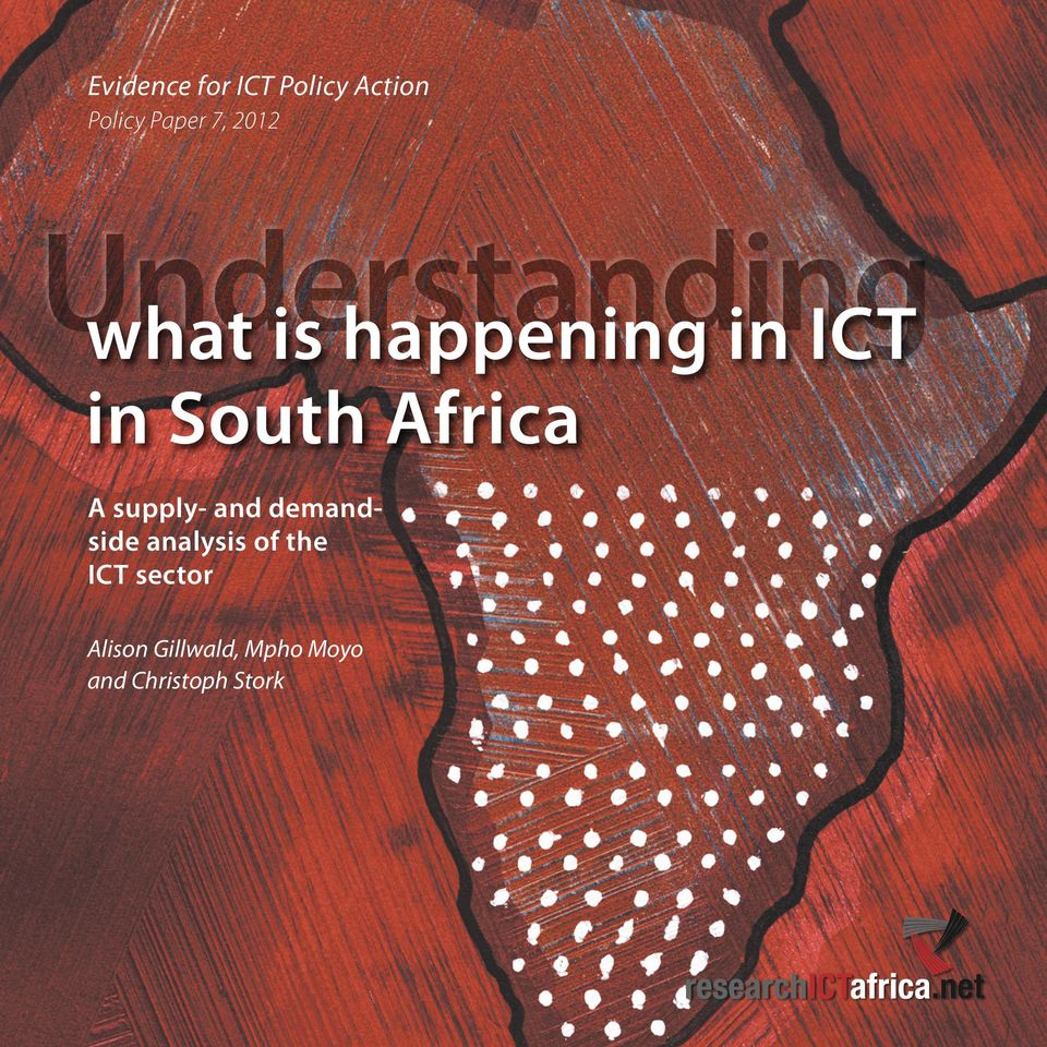 Africa A supply- and demandside analysis of the ICT