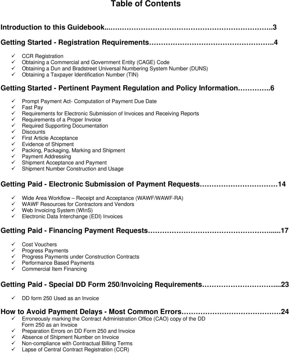 Getting Started - Pertinent Payment Regulation and Policy Information.