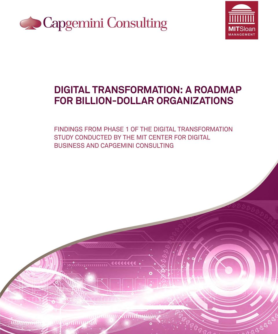 OF THE DIGITAL TRANSFORMATION STUDY CONDUCTED BY THE