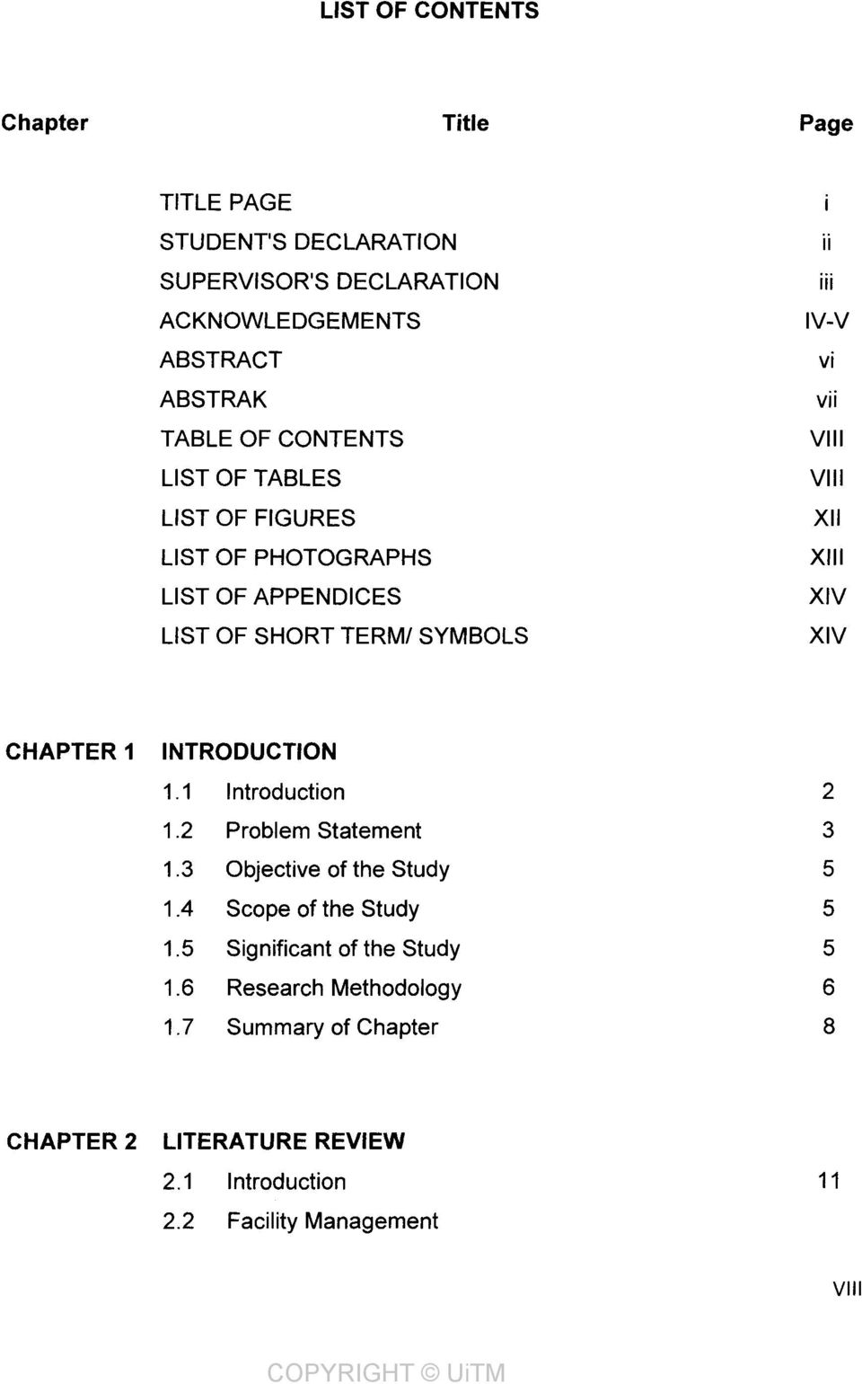 SYMBOLS ii iii IV-V vi vii VIII VIII XII XIII XIV XIV CHAPTER 1 INTRODUCTION 1.1 Introduction 2 1.2 Problem Statement 3 1.