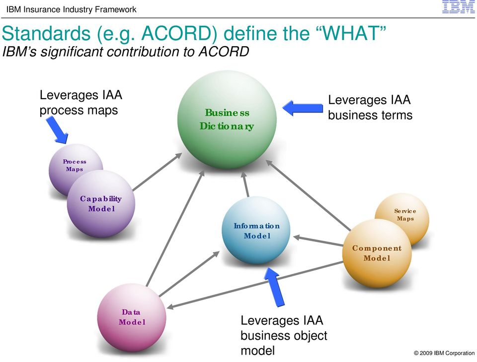 Leverages IAA process maps Business Dictionary Leverages IAA business