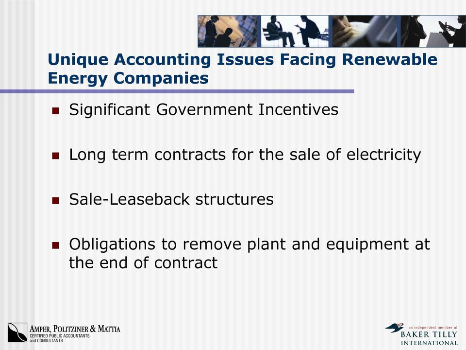 contracts for the sale of electricity Sale-Leaseback