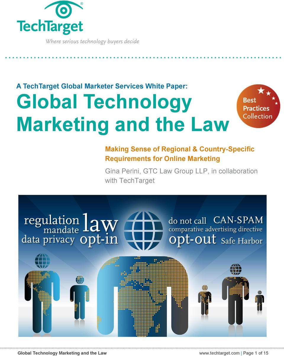 Requirements for Online Marketing Gina Perini, GTC Law Group LLP, in