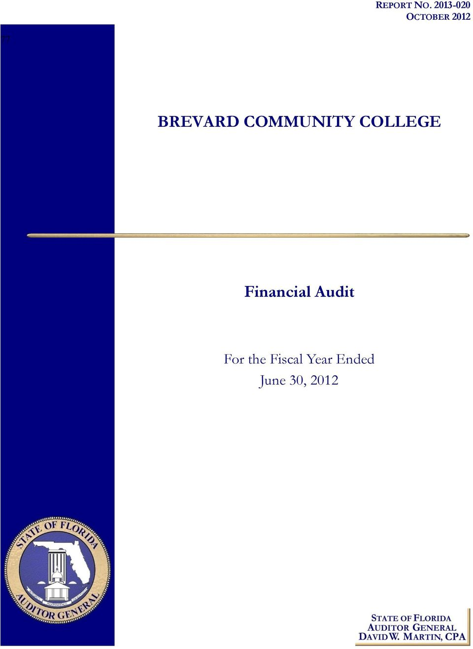 77 Financial Audit For