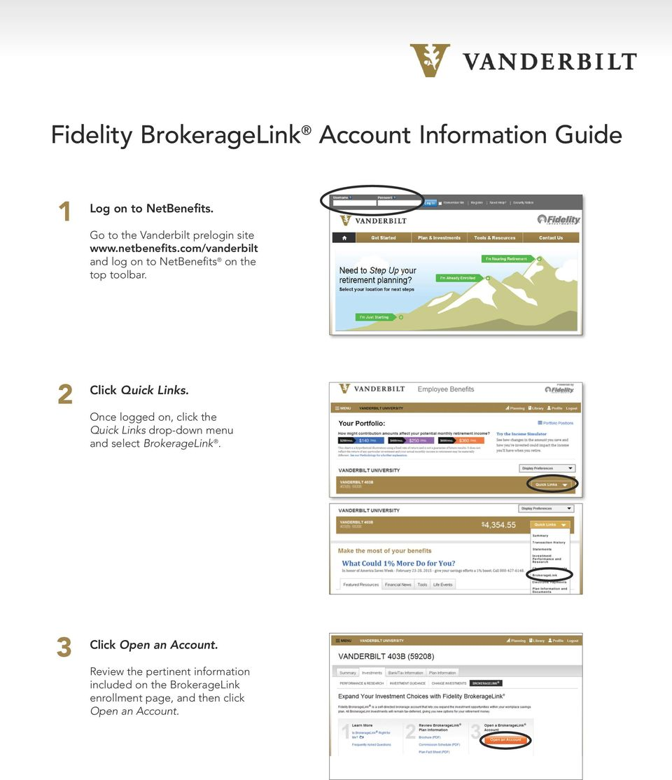 Self Directed Ira Fidelity >> Fidelity Brokeragelink Account Information Guide Pdf