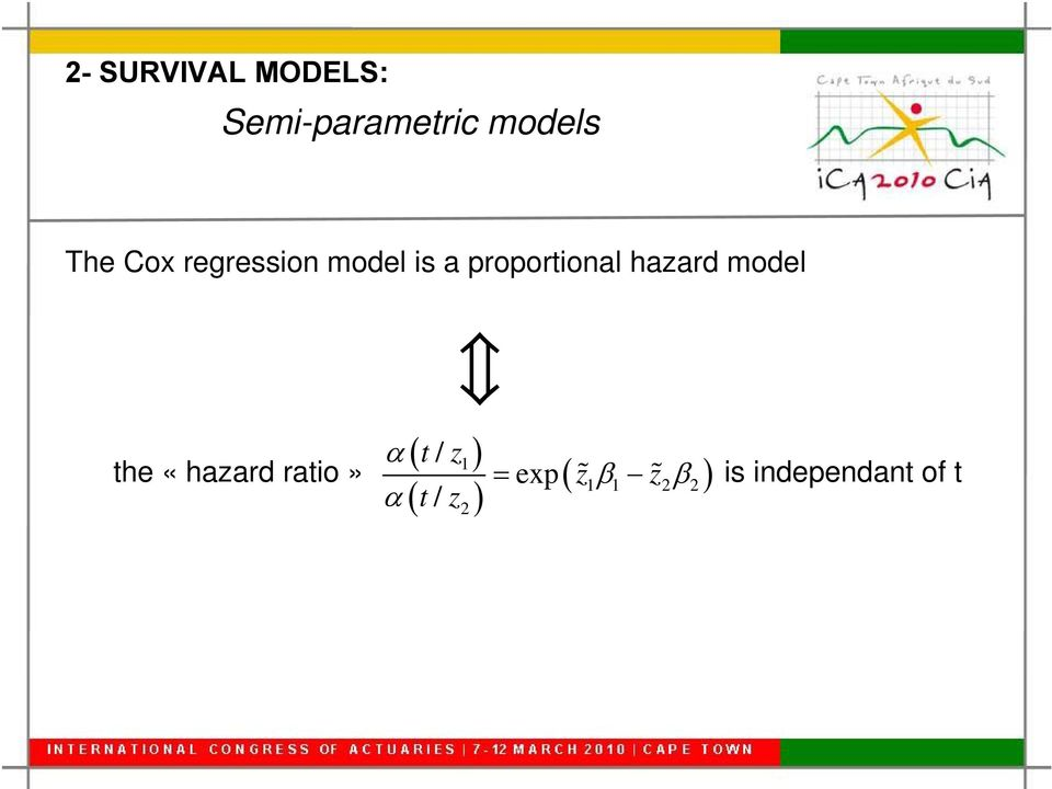 proportional hazard model t / z1 the