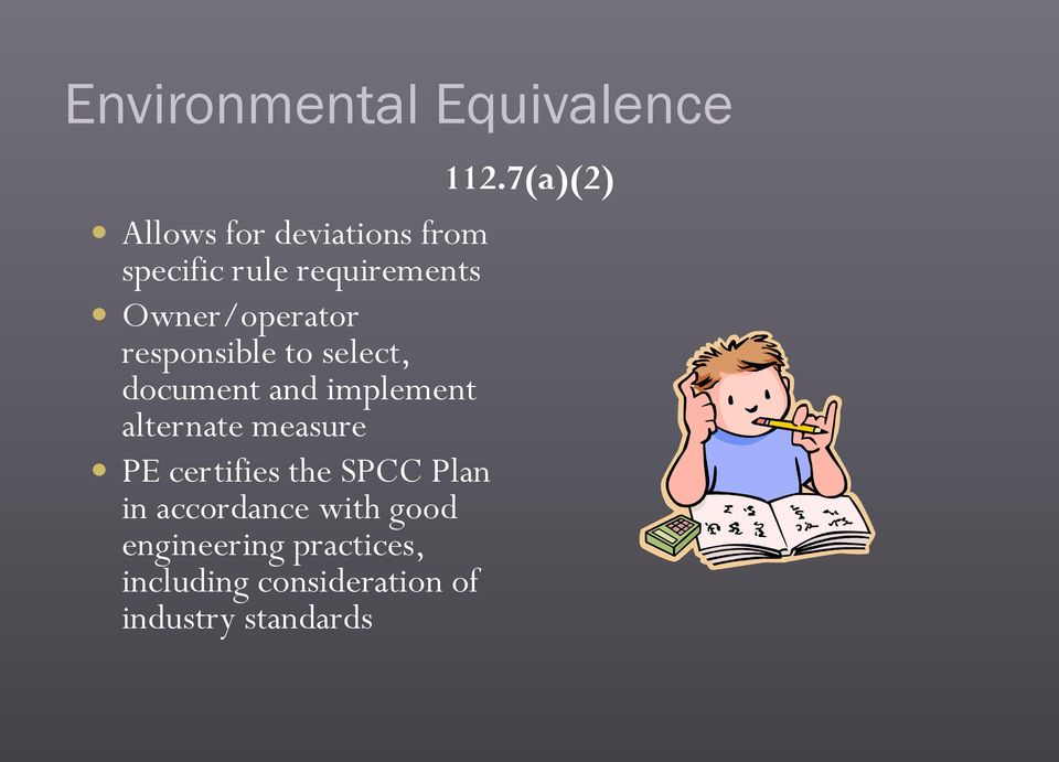 implement alternate measure PE certifies the SPCC Plan in accordance