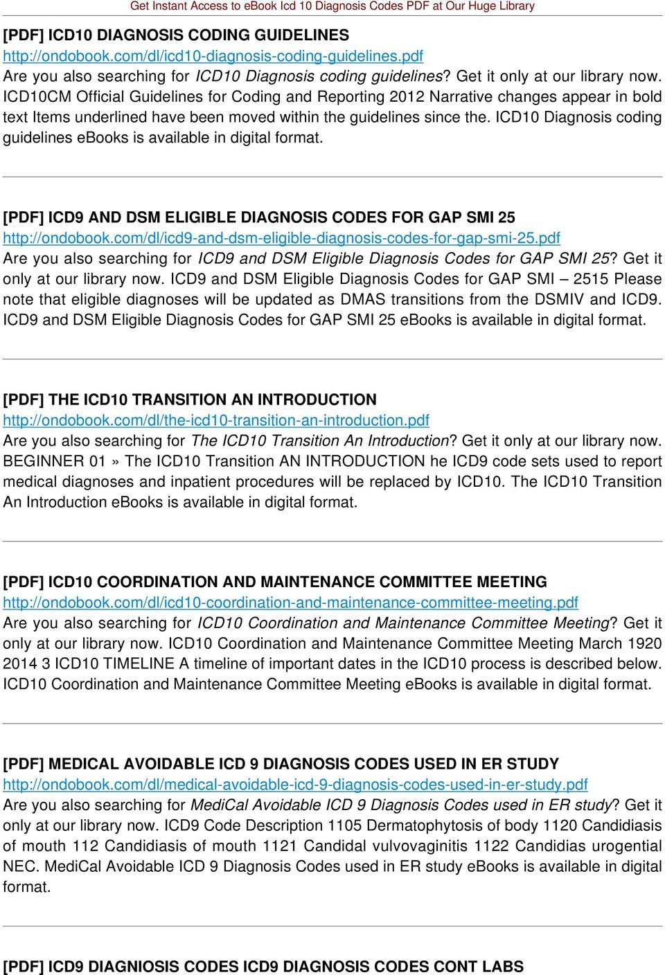 Icd 10 diagnosis codes pdf pdf icd10 diagnosis coding guidelines ebooks is available in digital pdf icd9 and dsm eligible fandeluxe Images