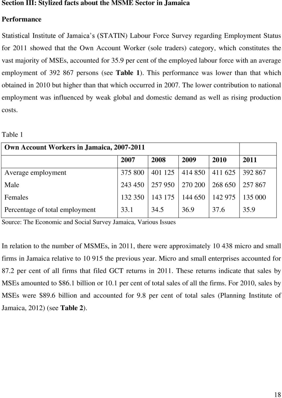 9 per cent of the employed labour force with an average employment of 392 867 persons (see Table 1).