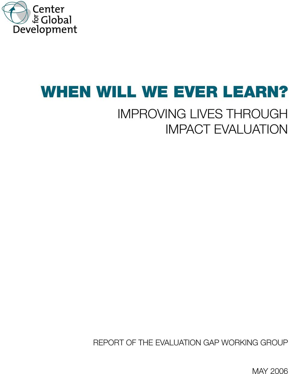 Impact Evaluation Report of