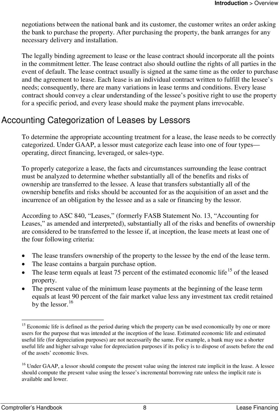 The legally binding agreement to lease or the lease contract should incorporate all the points in the commitment letter.
