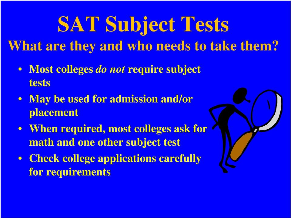 Dentistry college subject test requirements
