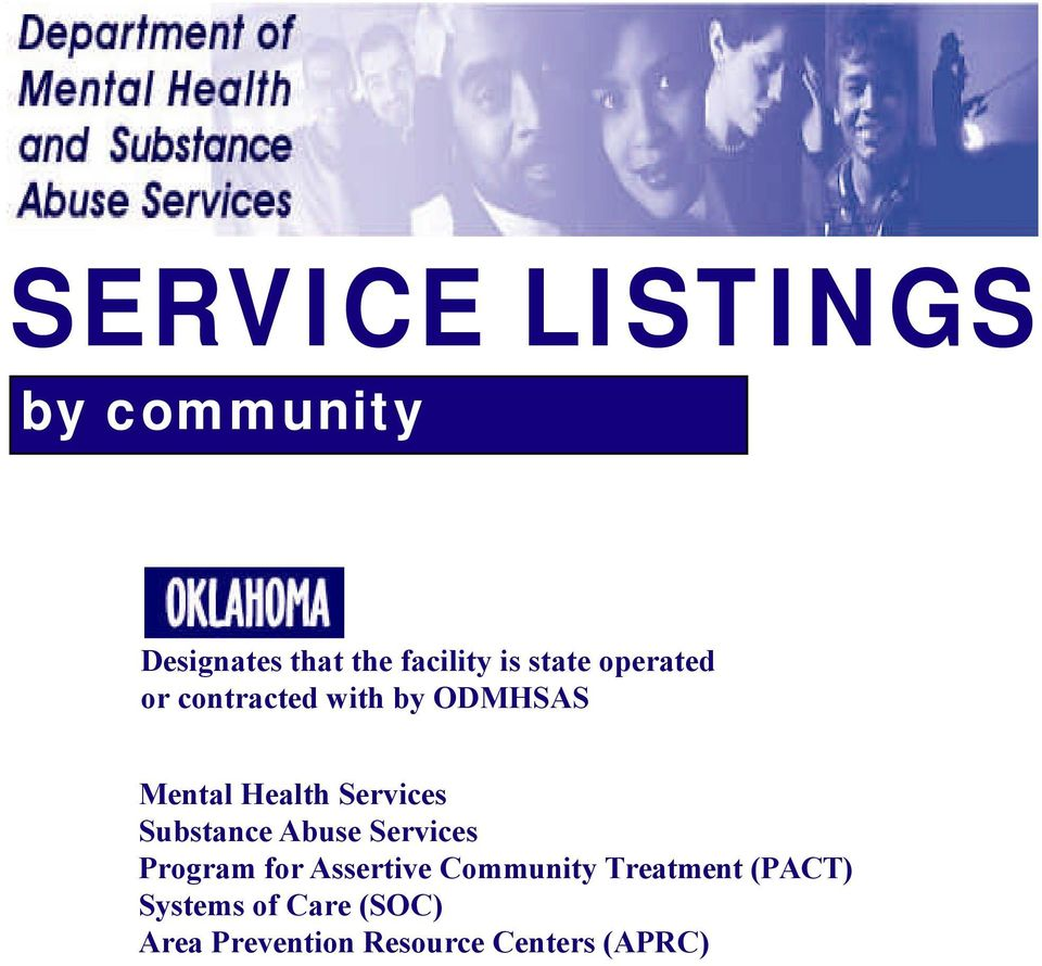 Services Substance Abuse Services Program for Assertive Community