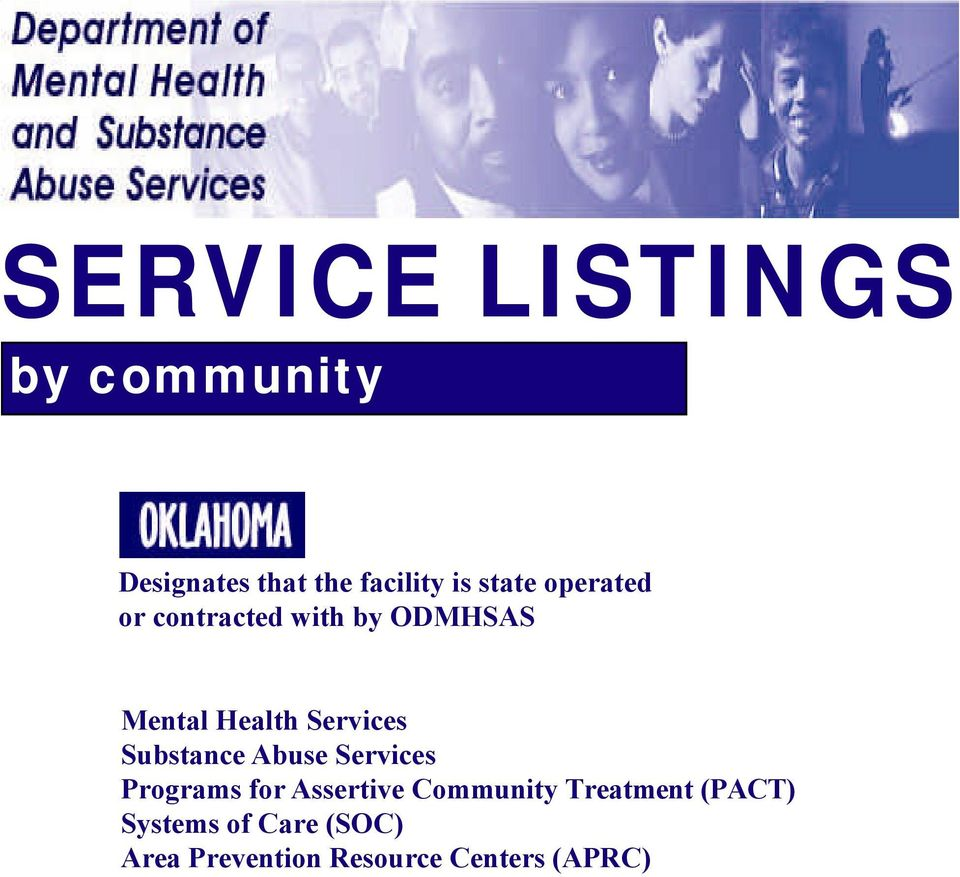 Services Substance Abuse Services Programs for Assertive Community