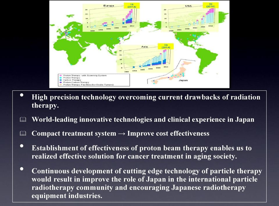 effectiveness of proton beam therapy enables us to realized effective solution for cancer treatment in aging society.
