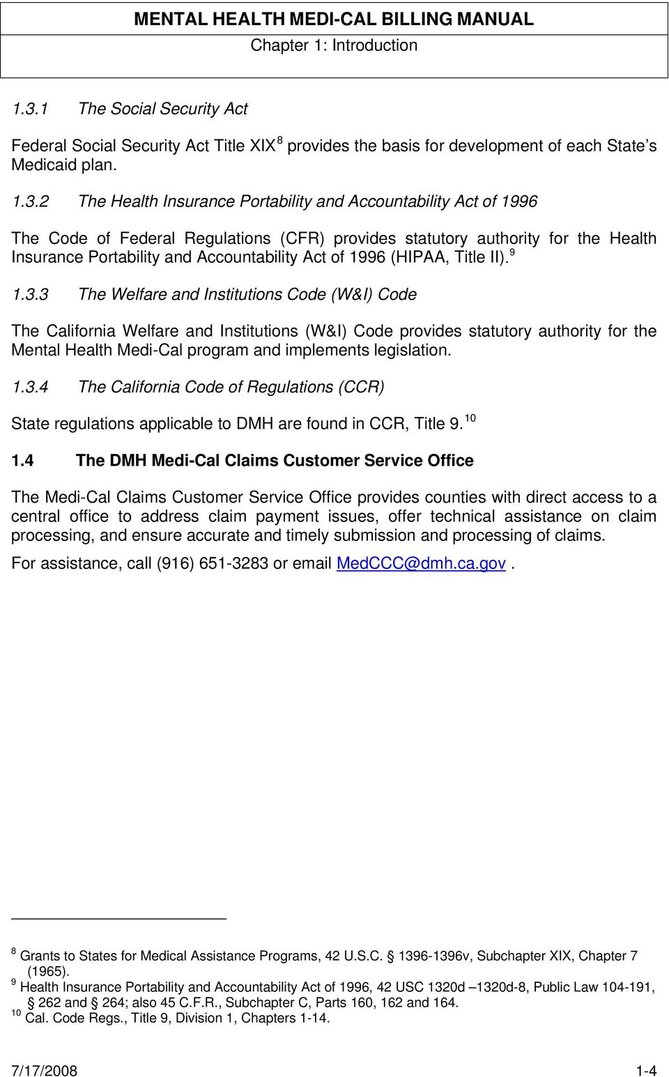 2 The Health Insurance Portability and Accountability Act of 1996 The Code  of Federal Regulations (