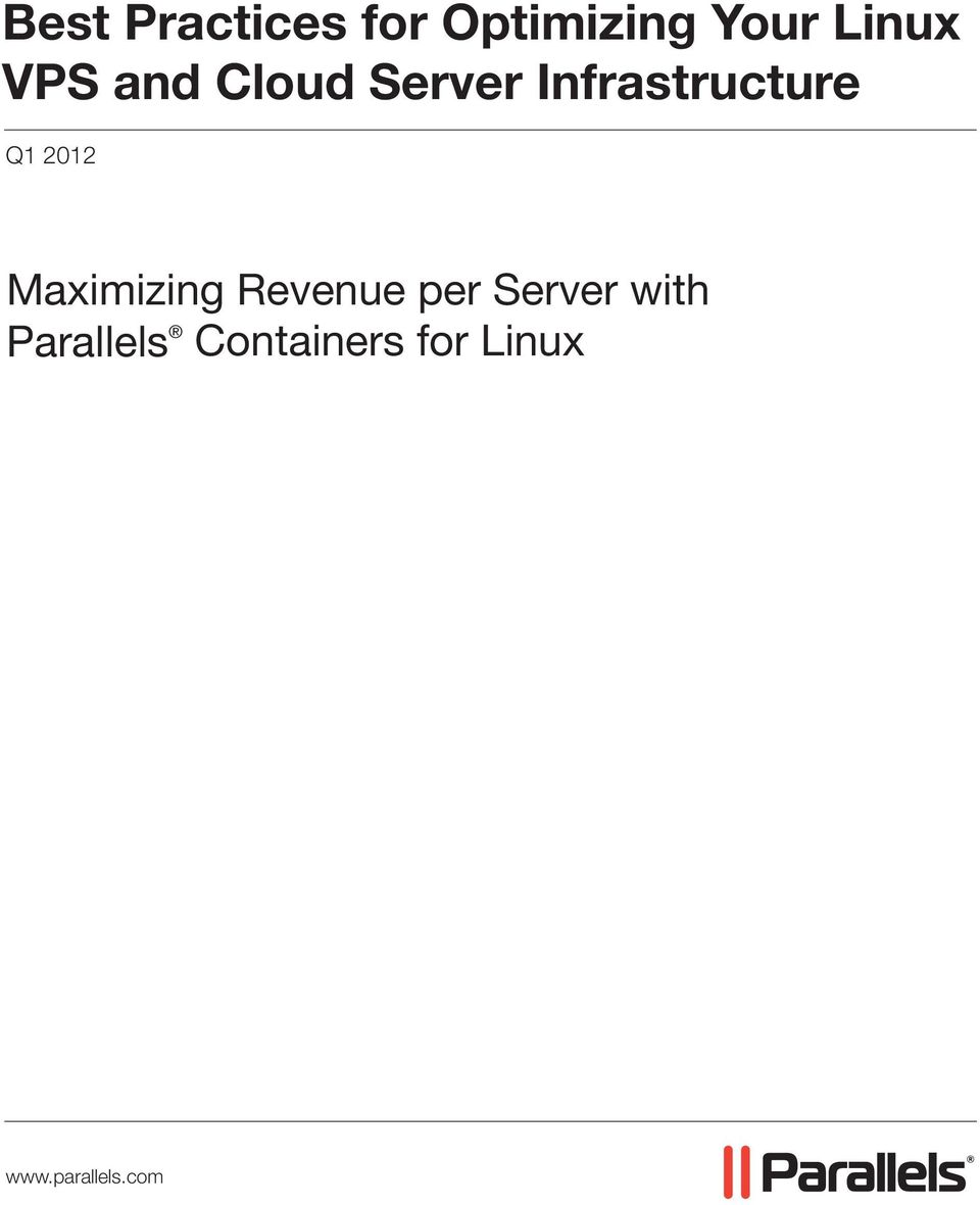 2012 Maximizing Revenue per Server with