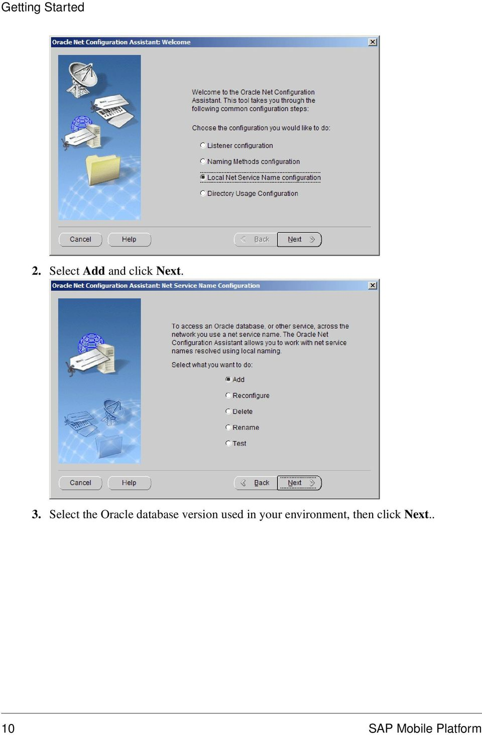Select the Oracle database version