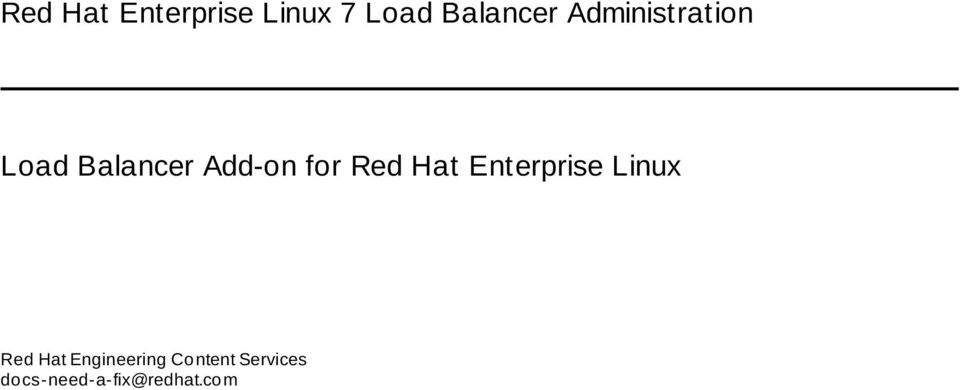 Red Hat Enterprise Linux Red Hat