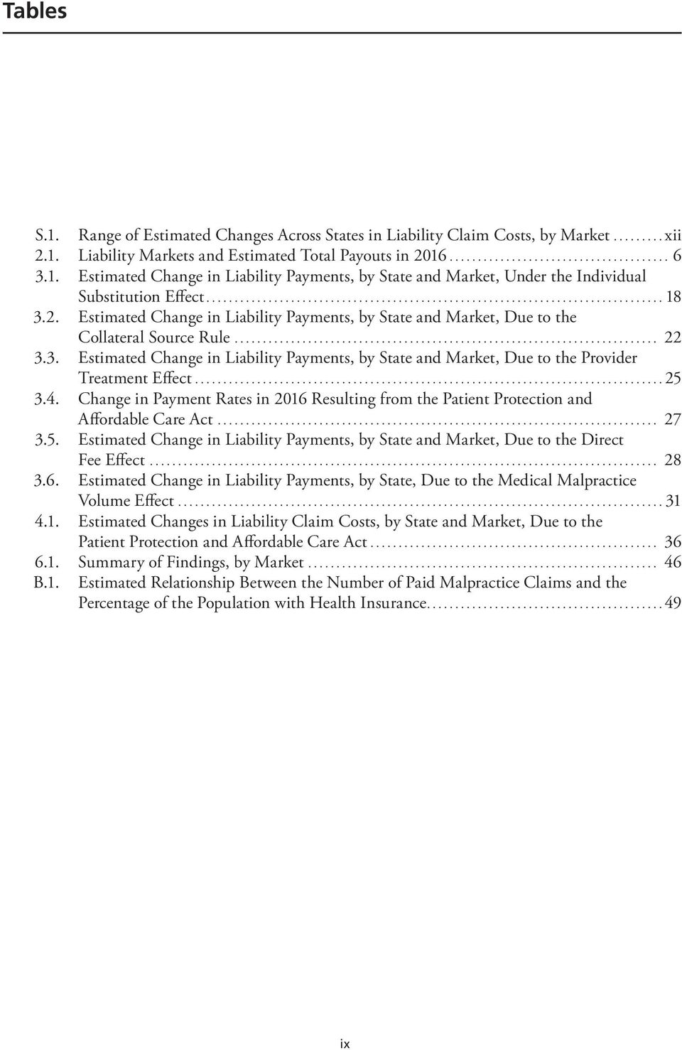 ..25 3.4. Change in Payment Rates in 2016 Resulting from the Patient Protection and Affordable Care Act... 27 3.5. Estimated Change in Liability Payments, by State and Market, Due to the Direct Fee Effect.