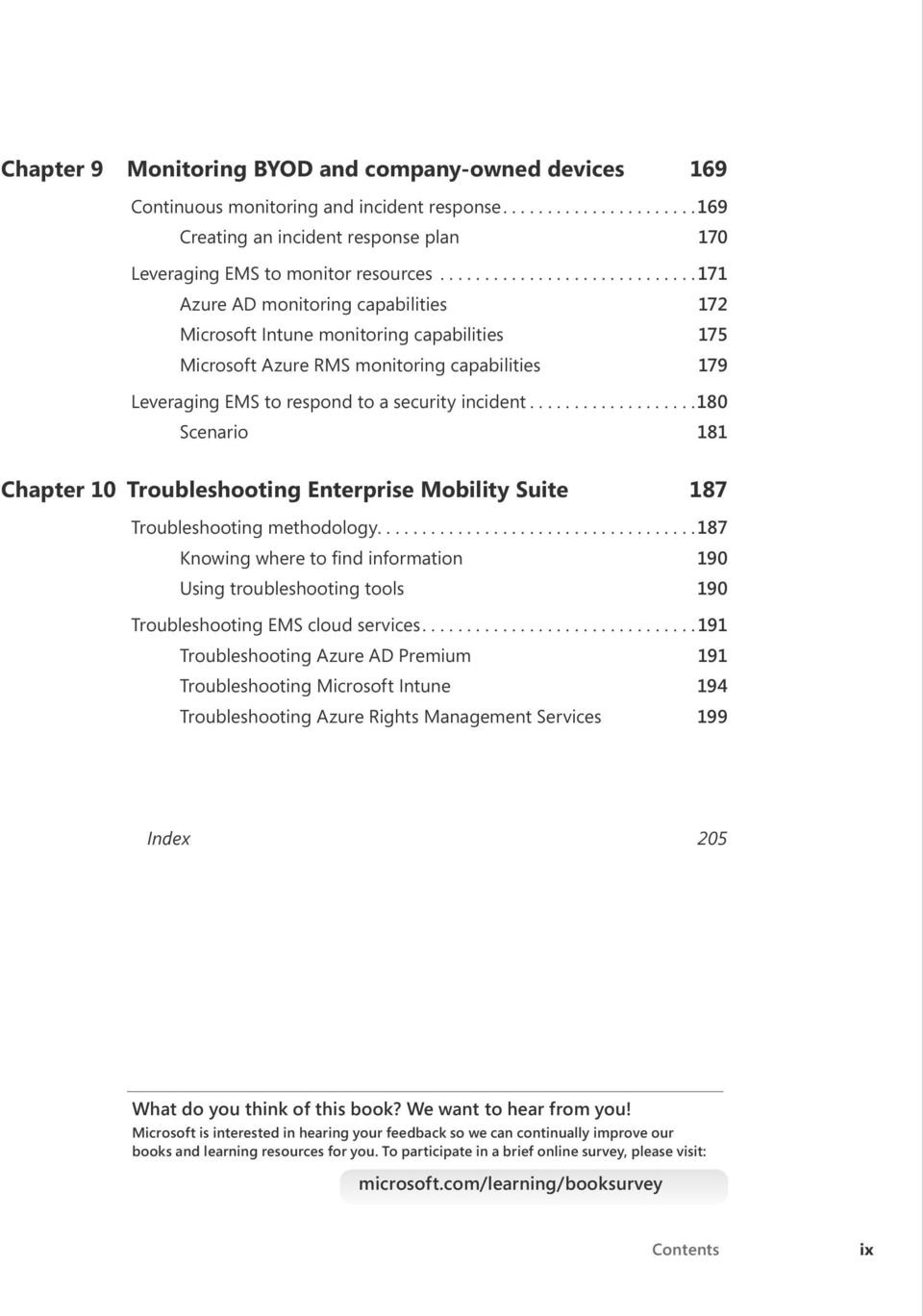..180 Scenario 181 Chapter 10 Troubleshooting Enterprise Mobility Suite 187 Troubleshooting methodology.