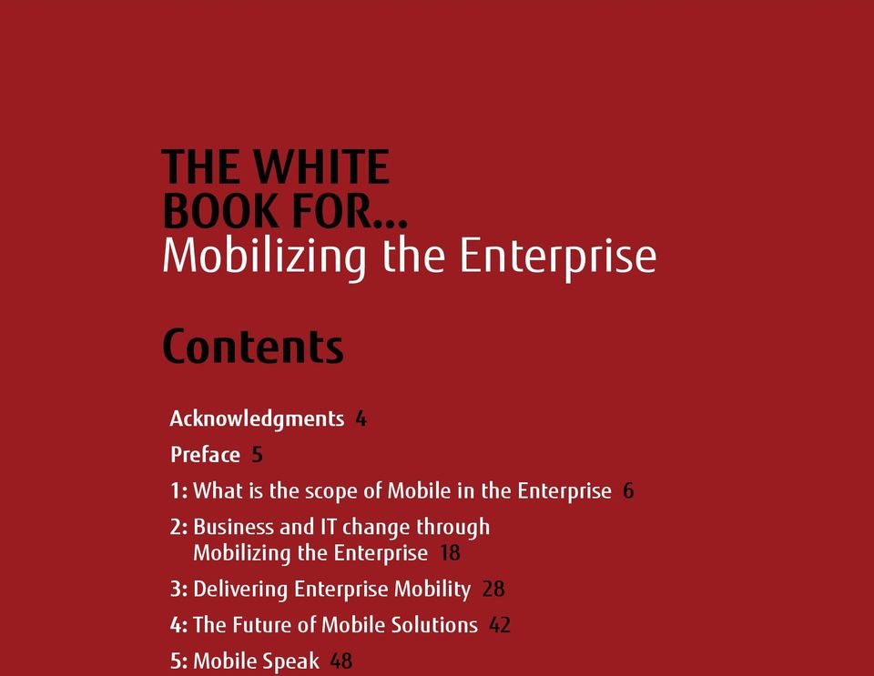 What is the scope of Mobile in the Enterprise 6 2: Business and IT