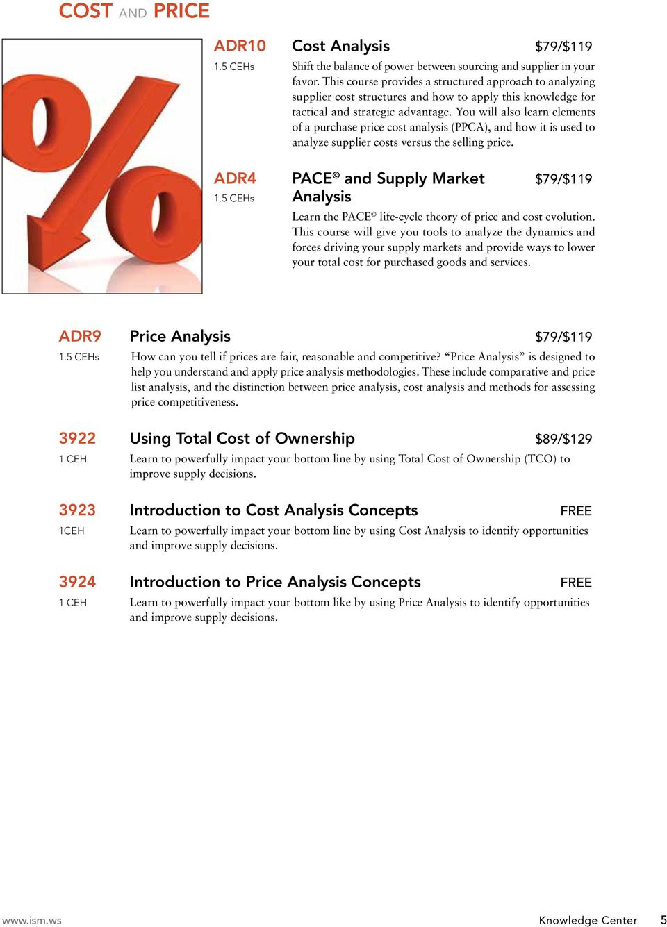 You will also learn elements of a purchase price cost analysis (PPCA), and how it is used to analyze supplier costs versus the selling price. ADR4 PACE and Supply Market $79/$119 1.