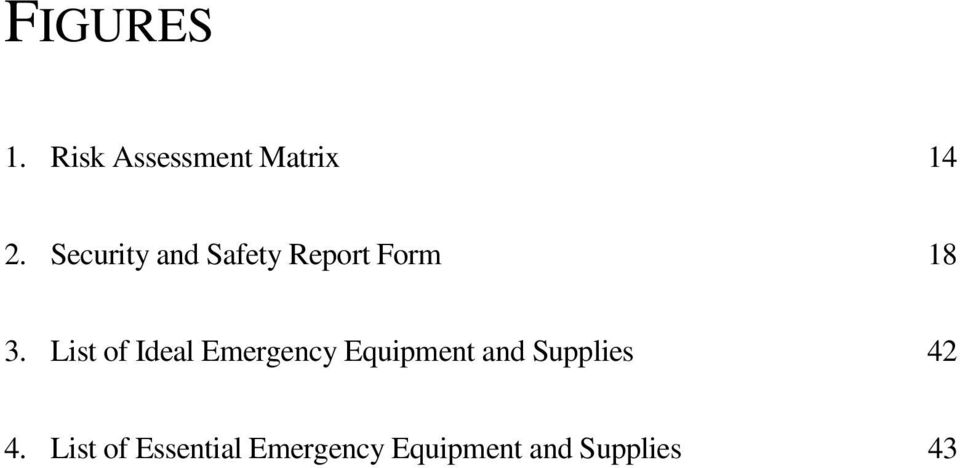List of Ideal Emergency Equipment and