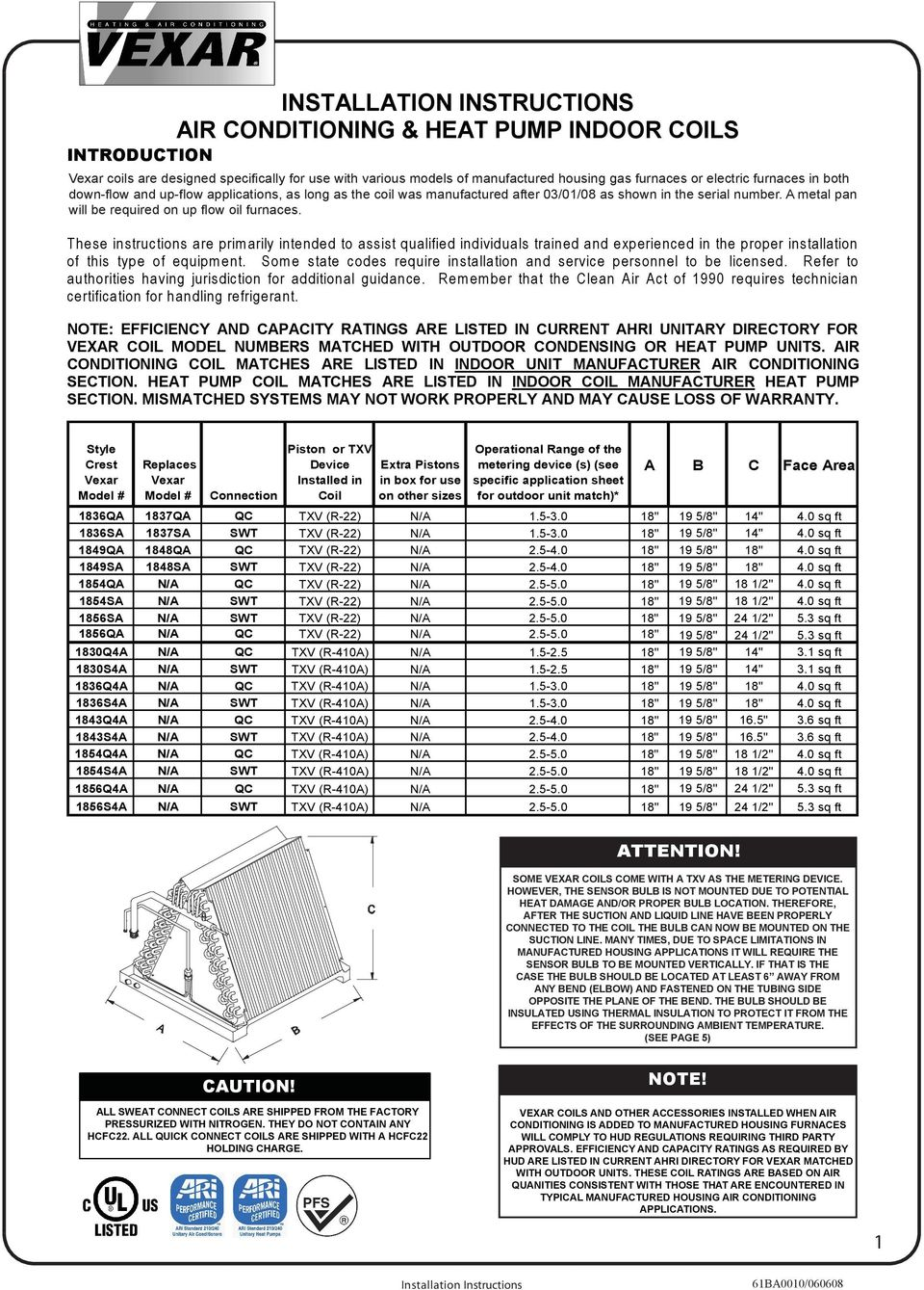 installation instructions air conditioning heat pump indoor these instructions are prim arily intended to assist qualified individuals trained and experienced in the proper