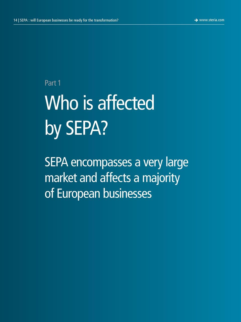 com Part 1 Who is affected by SEPA?