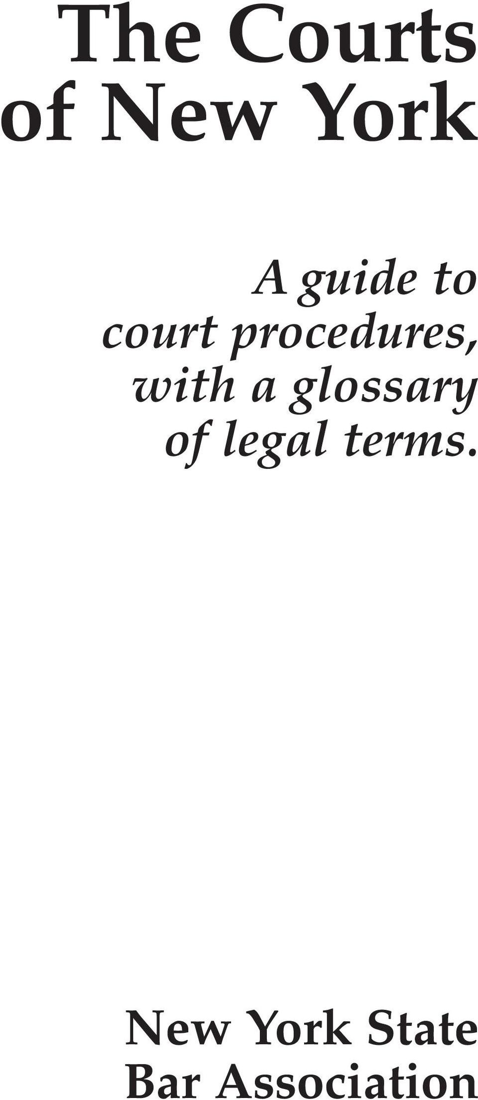 with a glossary of legal